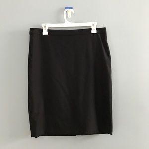 J. Crew Black Midi Skirt